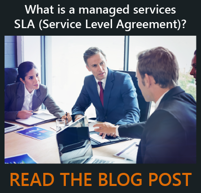 Managed services service level agreement (SLA)